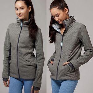 Ivivva Huddle And Cuddle Fleece Zip Up Jacket Grey